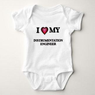 Amo a mi ingeniero de la instrumentación body para bebé