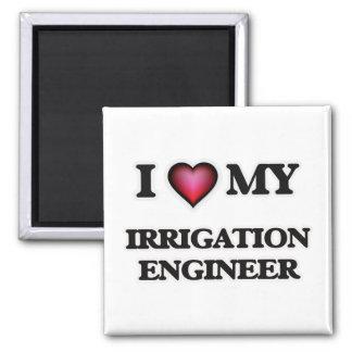 Amo a mi ingeniero de la irrigación imán cuadrado