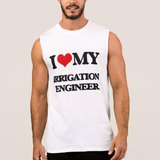 Amo a mi ingeniero de la irrigación camisetas sin mangas
