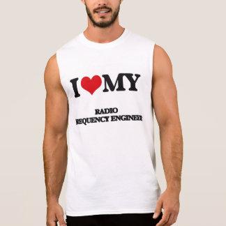 Amo a mi ingeniero de la radiofrecuencia camisetas sin mangas