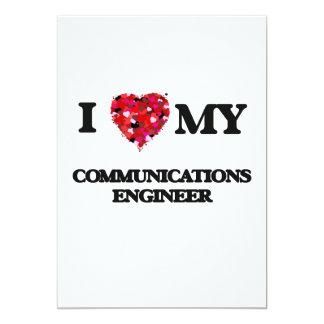 """Amo a mi ingeniero de las comunicaciones invitación 5"""" x 7"""""""