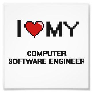 Amo a mi ingeniero de los programas informáticos cojinete