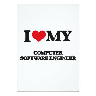 """Amo a mi ingeniero de los programas informáticos invitación 5"""" x 7"""""""