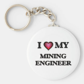 Amo a mi ingeniero de minas llavero redondo tipo pin
