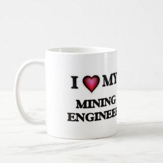Amo a mi ingeniero de minas taza