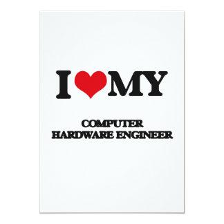 Amo a mi ingeniero del hardware invitación 12,7 x 17,8 cm