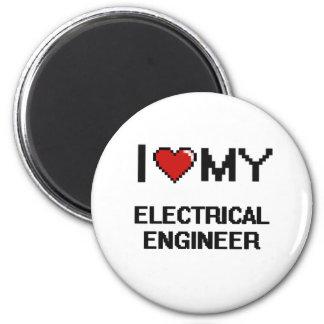 Amo a mi ingeniero eléctrico imán redondo 5 cm