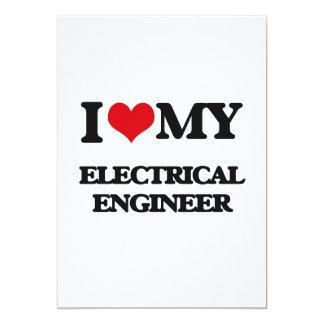 """Amo a mi ingeniero eléctrico invitación 5"""" x 7"""""""
