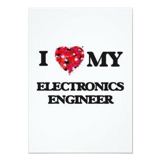 """Amo a mi ingeniero electrónico invitación 5"""" x 7"""""""