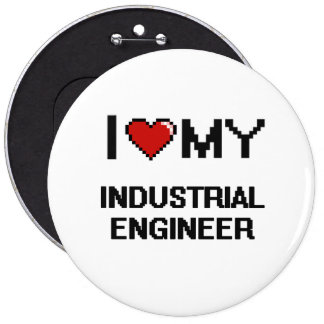 Amo a mi ingeniero industrial chapa redonda 15 cm