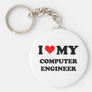 Amo a mi ingeniero informático llaveros personalizados