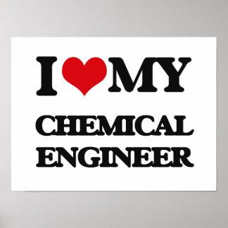 Amo a mi ingeniero químico posters