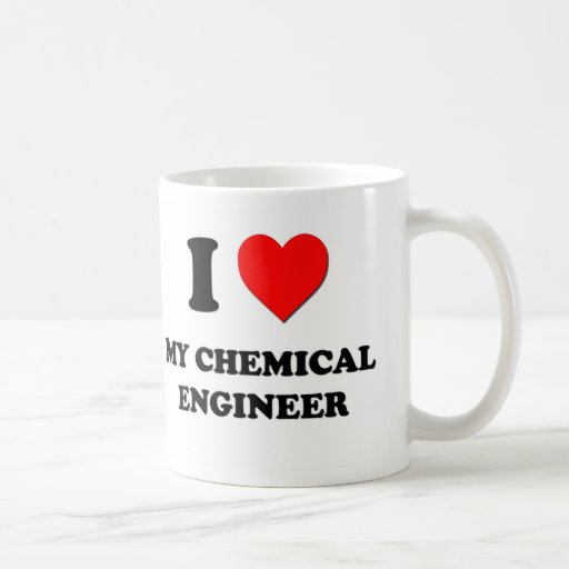 Amo a mi ingeniero químico tazas de café