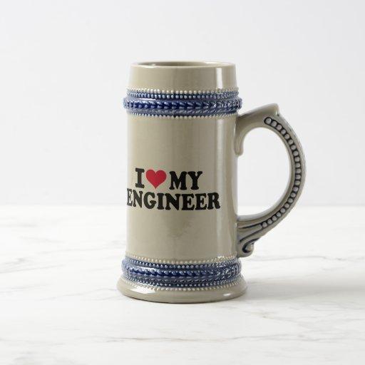 Amo a mi ingeniero taza