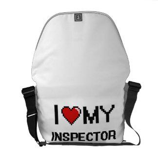 Amo a mi inspector bolsas de mensajería