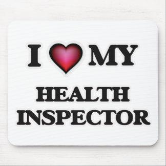 Amo a mi inspector de la salud alfombrilla de raton