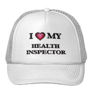 Amo a mi inspector de la salud gorros
