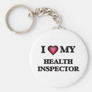 Amo a mi inspector de la salud llavero redondo tipo pin