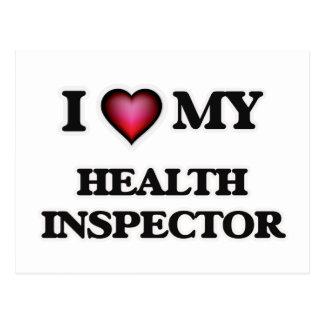 Amo a mi inspector de la salud postales