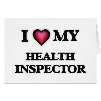 Amo a mi inspector de la salud tarjeta de felicitación
