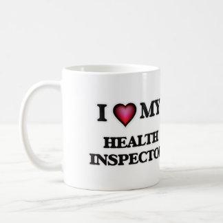 Amo a mi inspector de la salud taza clásica