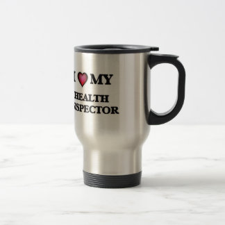 Amo a mi inspector de la salud taza de viaje
