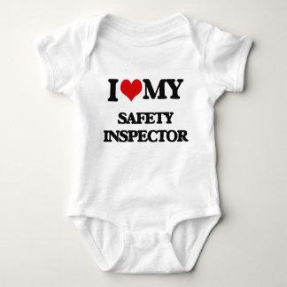 Amo a mi inspector de la seguridad body para bebé
