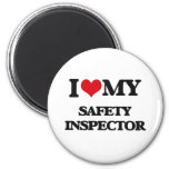 Amo a mi inspector de la seguridad imán