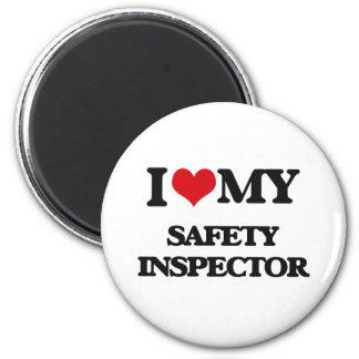 Amo a mi inspector de la seguridad imán redondo 5 cm