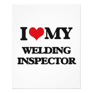 Amo a mi inspector de la soldadura flyer personalizado