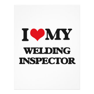 Amo a mi inspector de la soldadura tarjeta publicitaria