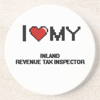 Amo a mi inspector del impuesto de Hacienda Posavasos Diseño