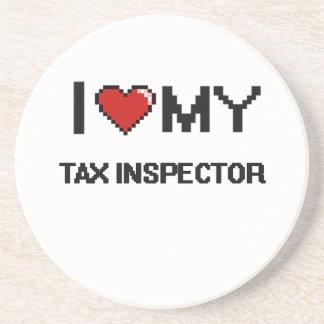 Amo a mi inspector del impuesto posavasos manualidades