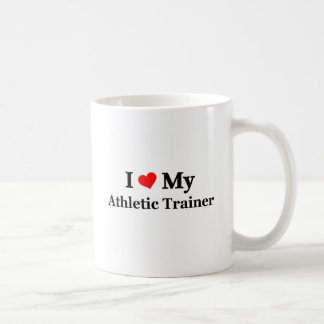 Amo a mi instructor atlético taza clásica