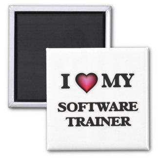 Amo a mi instructor del software imán cuadrado