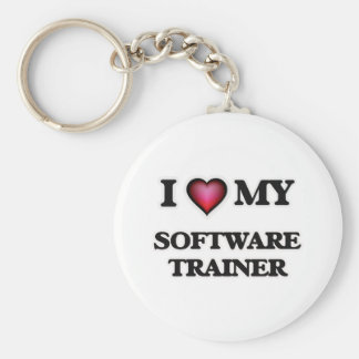 Amo a mi instructor del software llavero redondo tipo pin