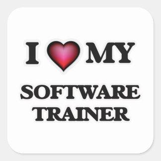 Amo a mi instructor del software pegatina cuadrada
