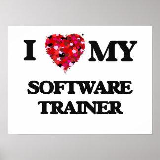 Amo a mi instructor del software póster