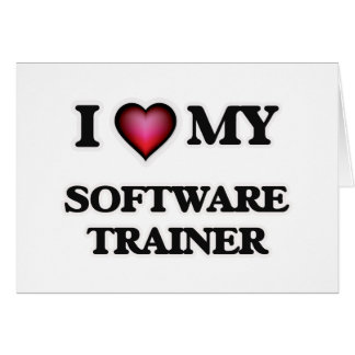 Amo a mi instructor del software tarjeta de felicitación