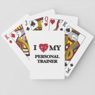 Amo a mi instructor personal barajas de cartas