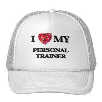 Amo a mi instructor personal gorro de camionero