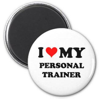 Amo a mi instructor personal imán redondo 5 cm