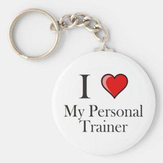 Amo a mi instructor personal llavero redondo tipo pin