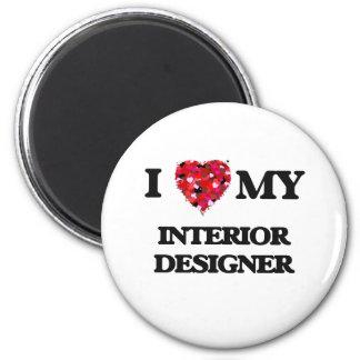 Amo a mi interiorista imán redondo 5 cm