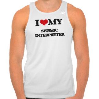 Amo a mi intérprete sísmico tee shirts