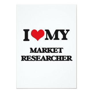 "Amo a mi investigador de mercado invitación 5"" x 7"""