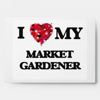 Amo a mi jardinero de mercado sobre