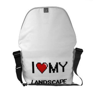 Amo a mi jardinero de paisaje bolsa messenger