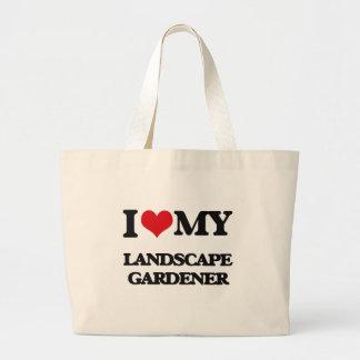 Amo a mi jardinero de paisaje bolsas de mano