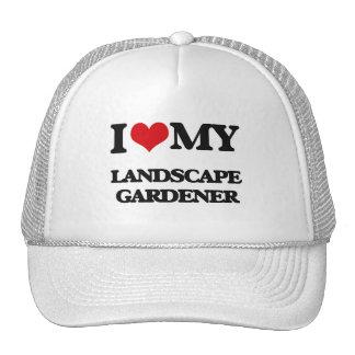 Amo a mi jardinero de paisaje gorras